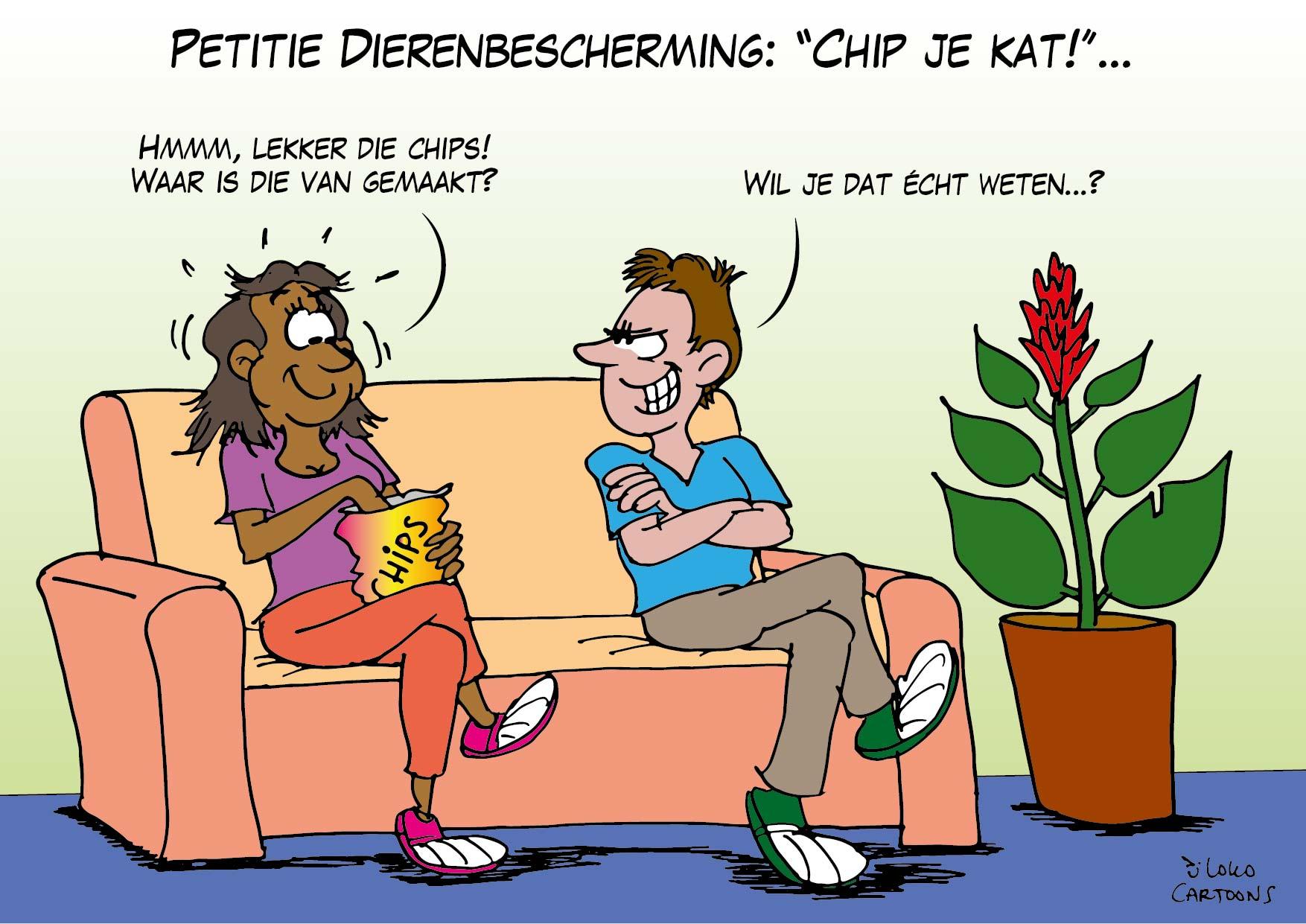 "Petitie Dierenbescherming: ""Chip je kat!""…"