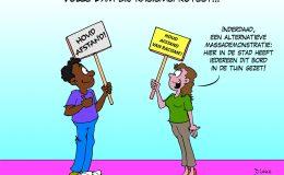 Volle Dam bij racismeprotest Corona, coronavirus, coronacrisis, COVID-19
