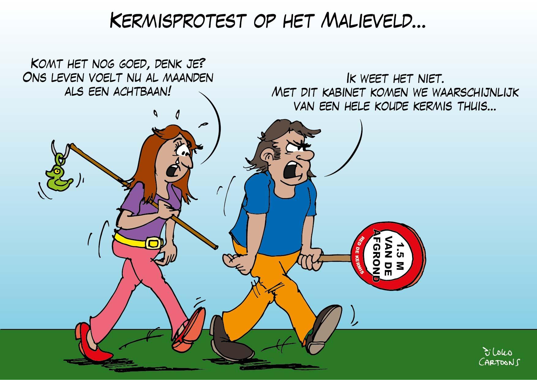 Kermisprotest op het Malieveld…