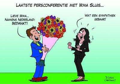 Laatste persconferentie met Irma Sluis Corona, coronavirus, coronacrisis, COVID-19