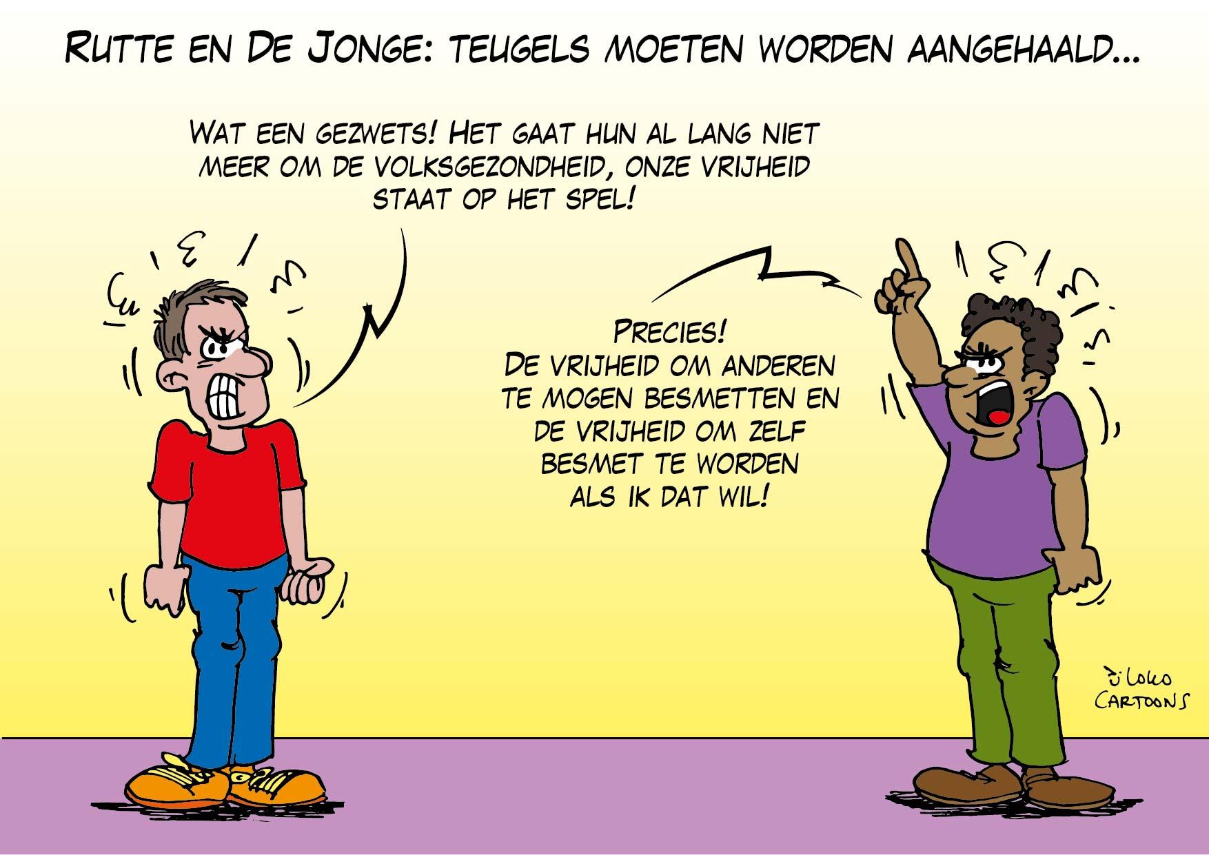 Rutte en De Jonge: teugels moeten worden aangehaald…