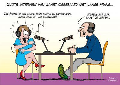Quote interview van Janet Ossenbaard met Lange Frans Corona, coronavirus, coronacrisis, COVID-19
