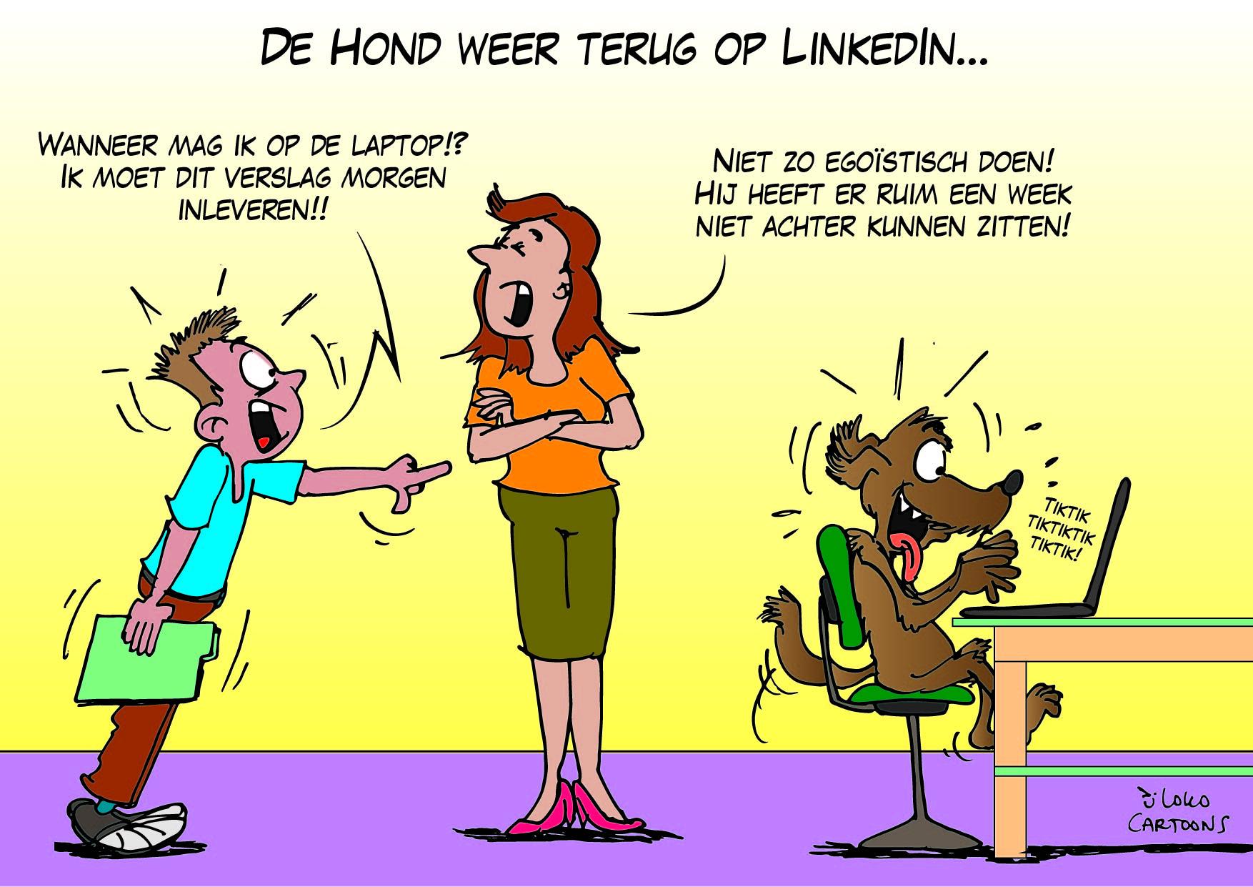 De Hond weer terug op LinkedIn…