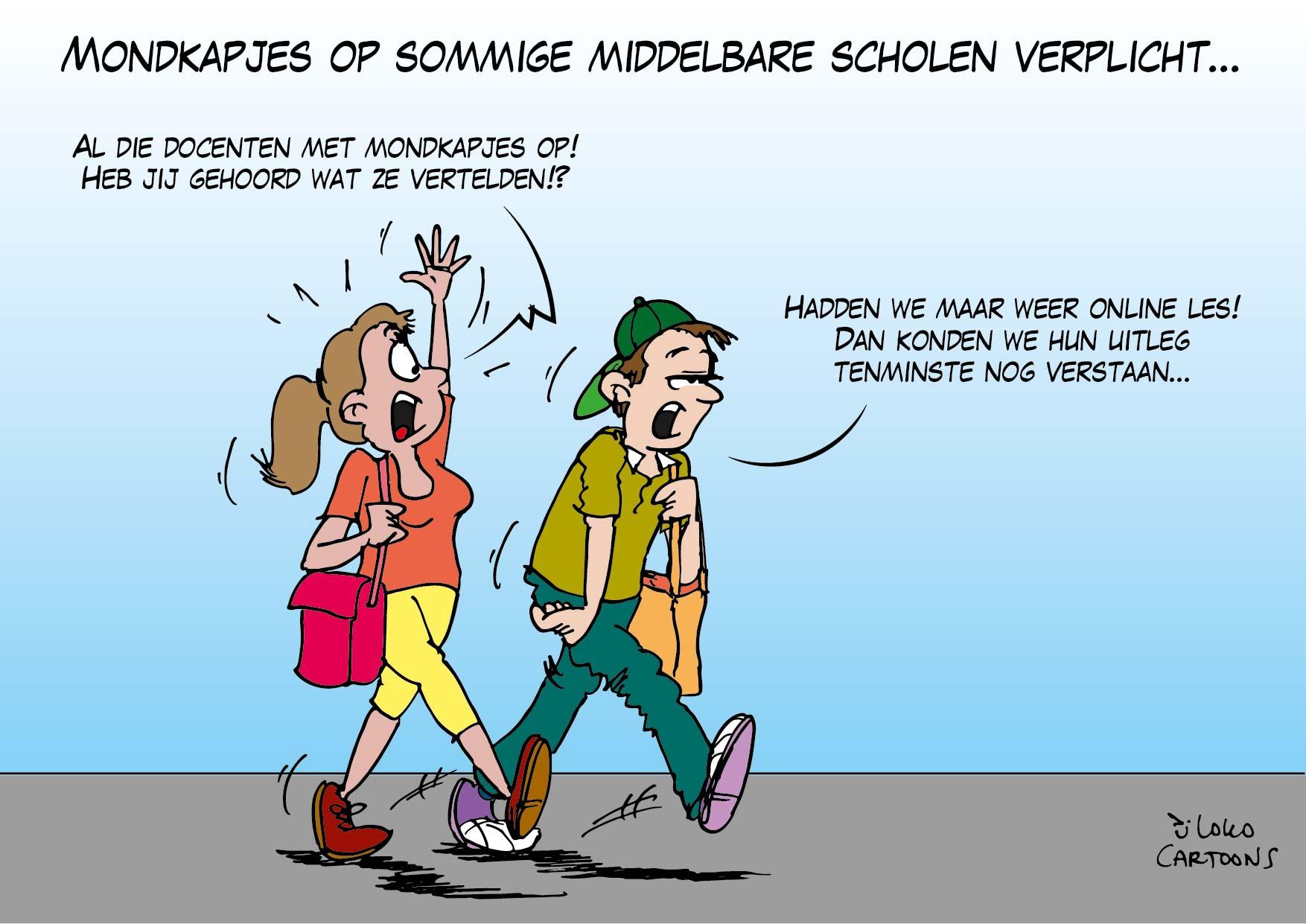 Mondkapjes op sommige middelbare scholen verplicht…