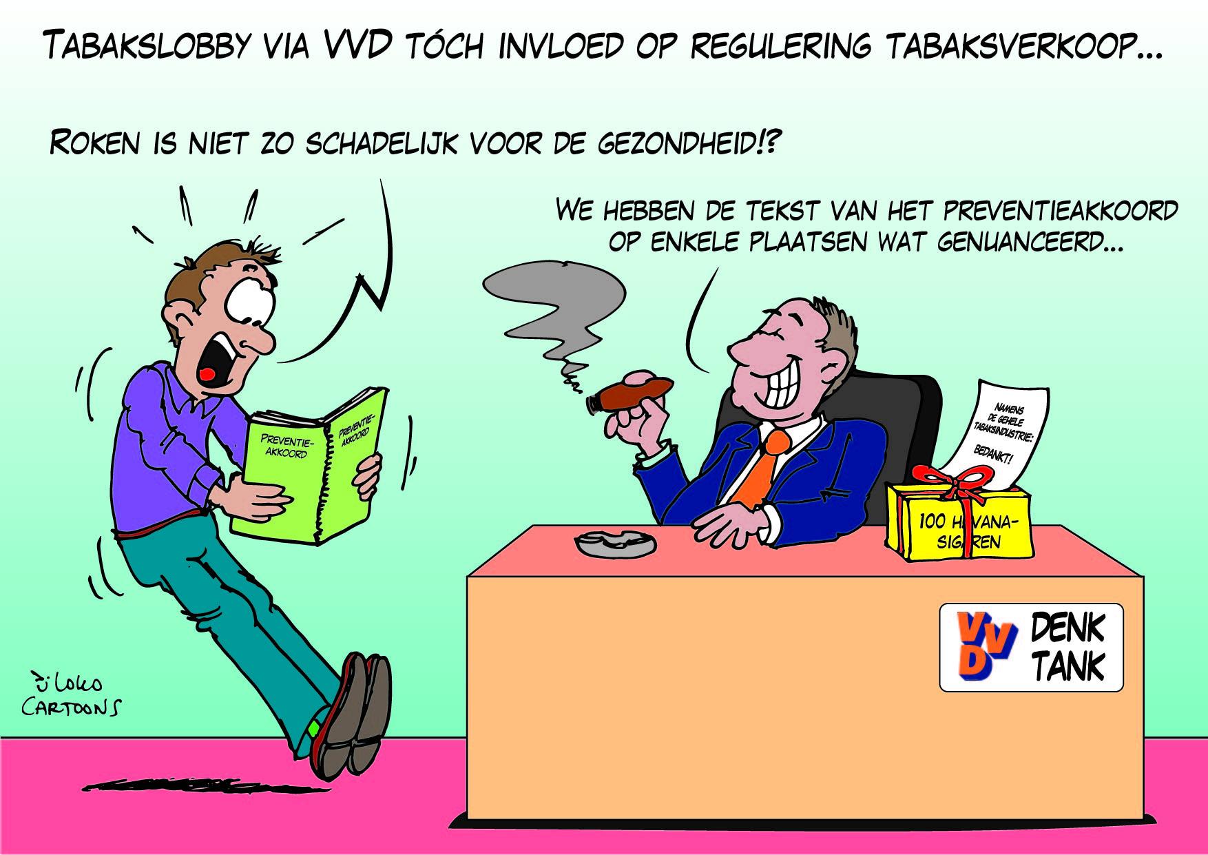 Tabakslobby via VVD tóvh invloed op regulering tabaksverkoop…