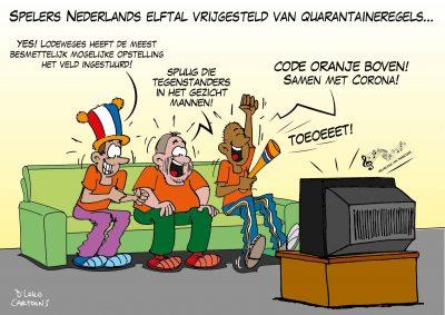 Spelers Nederlands Elftal vrijgesteld van quarantaineregels Corona, coronavirus, coronacrisis, COVID-19