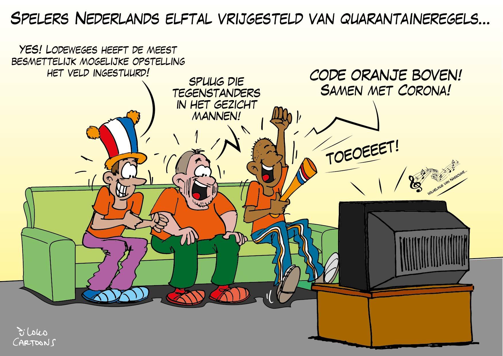 Spelers Nederlands Elftal vrijgesteld van quarantaineregels…