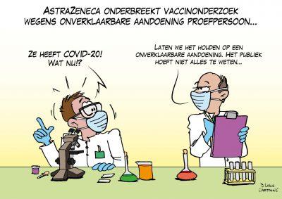 AstraZeneca onderbreekt vaccinonderzoek wegens onverklaarbare aandoening proefpersoon Corona, coronavirus, coronacrisis, COVID-19