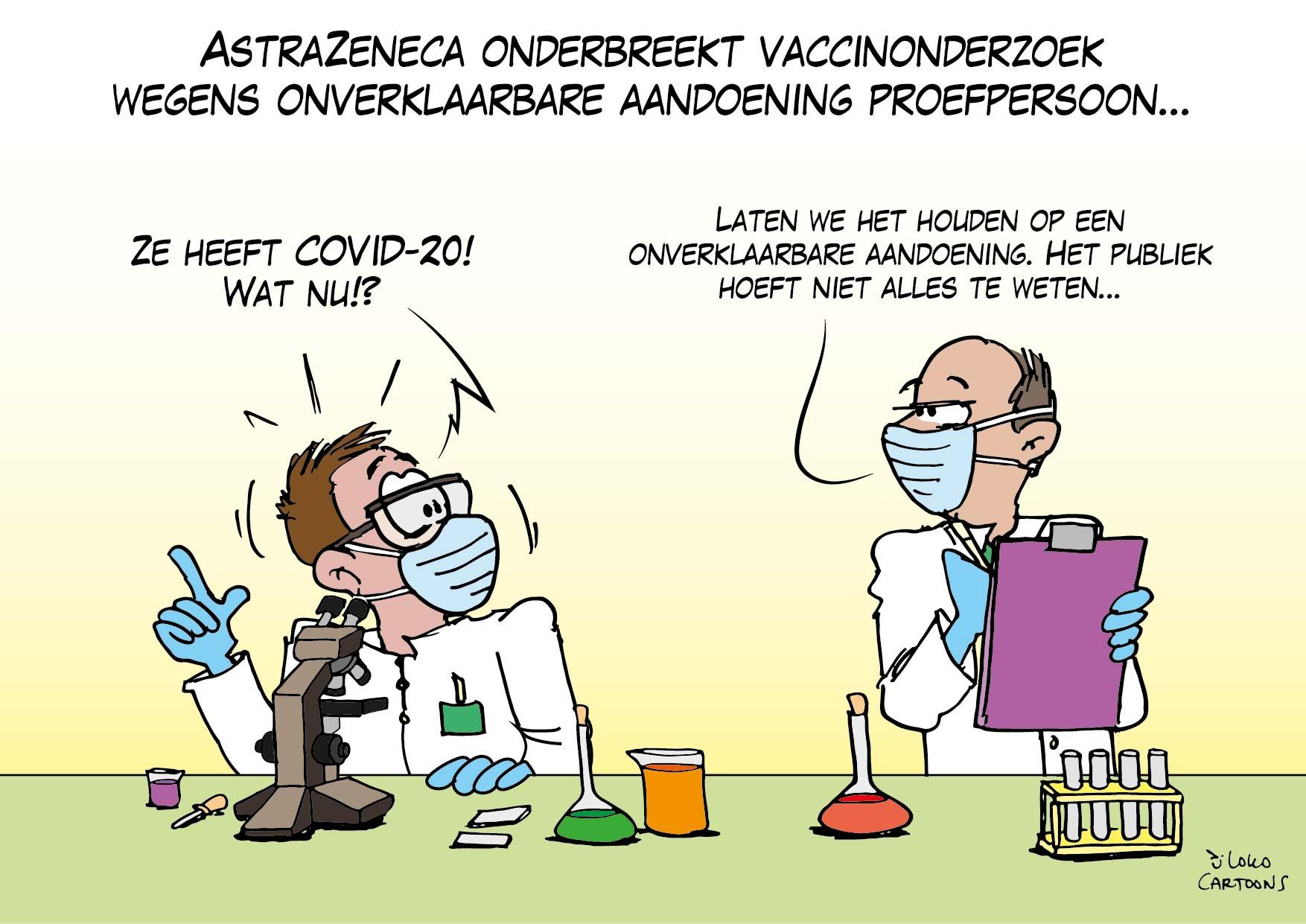 AstraZeneca onderbreekt vaccinonderzoek wegens onverklaarbare aandoening proefpersoon…