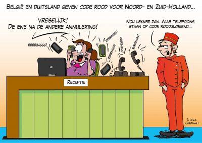 België en Duitsland geven code rood voor Noord- en Zuid-Holland Corona, coronavirus, coronacrisis, COVID-19