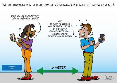 Coronamelder Corona-app Corona, coronavirus, coronacrisis, COVID-19