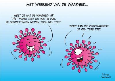 Het weekend van de waarheid Corona, coronavirus, coronacrisis, COVID-19