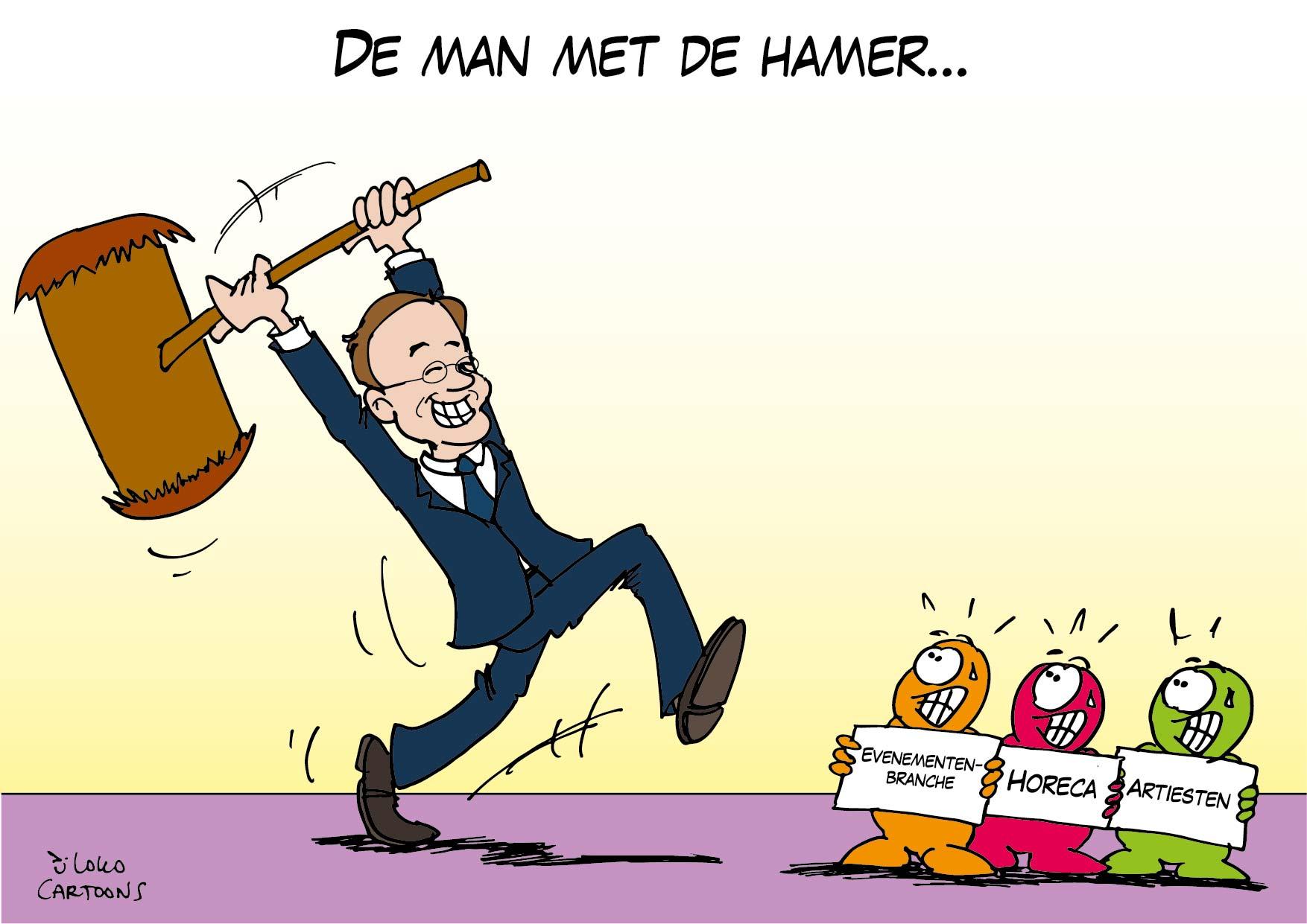 De man met de hamer…
