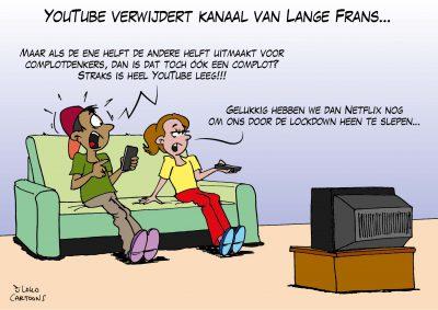 YouTube verwijdert kanaal van lange Frans Corona, coronavirus, coronacrisis, COVID-19