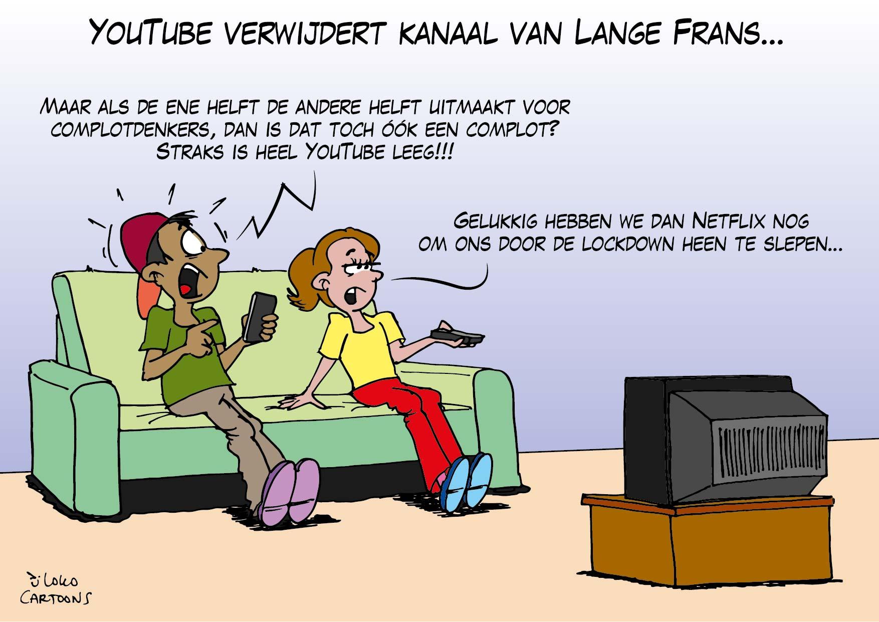 YouTube verwijdert kanaal van lange Frans