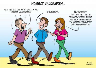 Indirect vaccineren Corona, coronavirus, coronacrisis, COVID-19