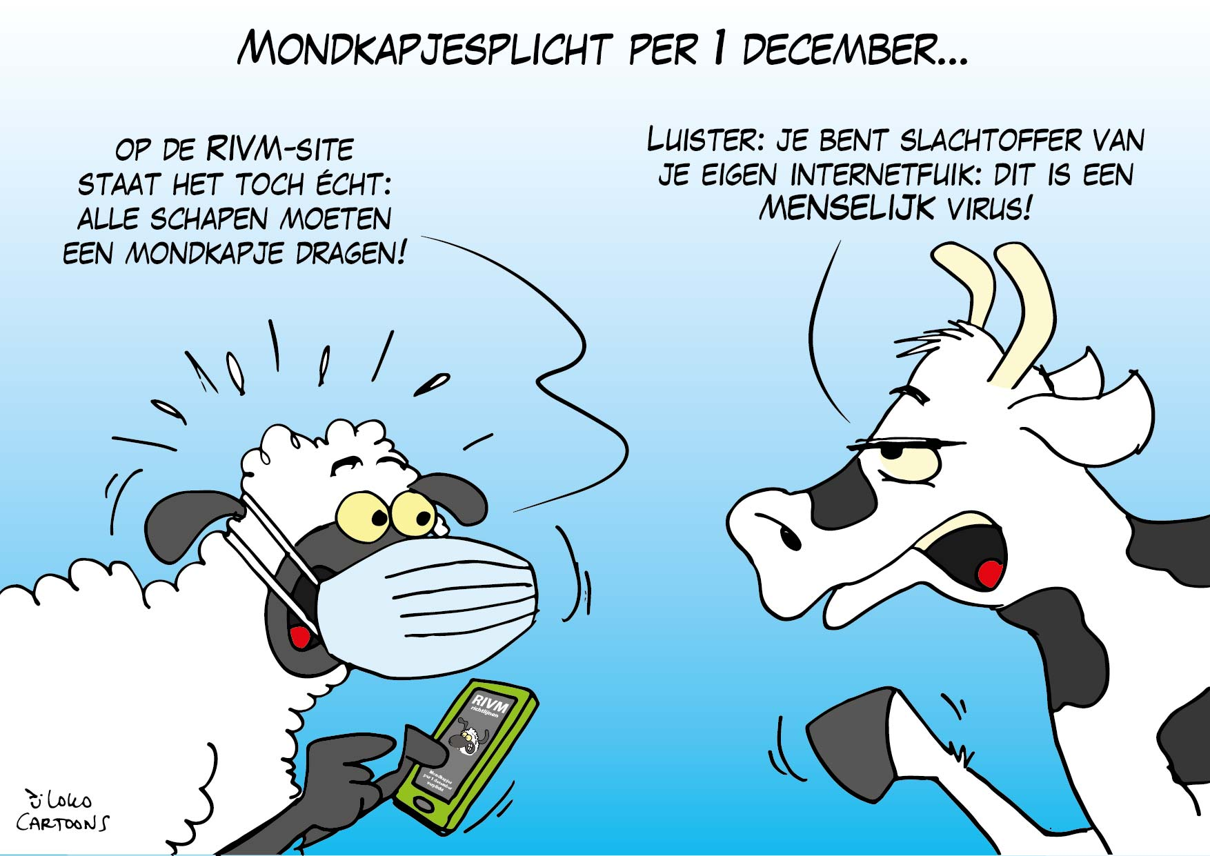 Mondkapjesplicht per 1 december