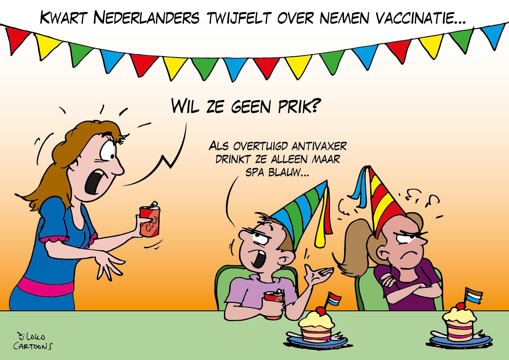 Kwart Nederlanders twijfelt over nemen vaccinatie…
