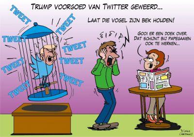 Trump voorgoed van Twitter geweerd