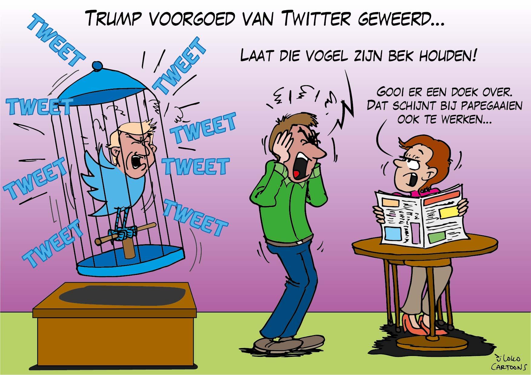 Trump voorgoed van Twitter geweerd…