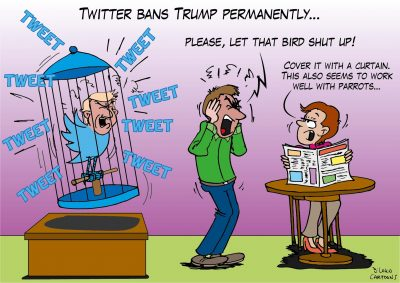 Twitter bans Trump permanently