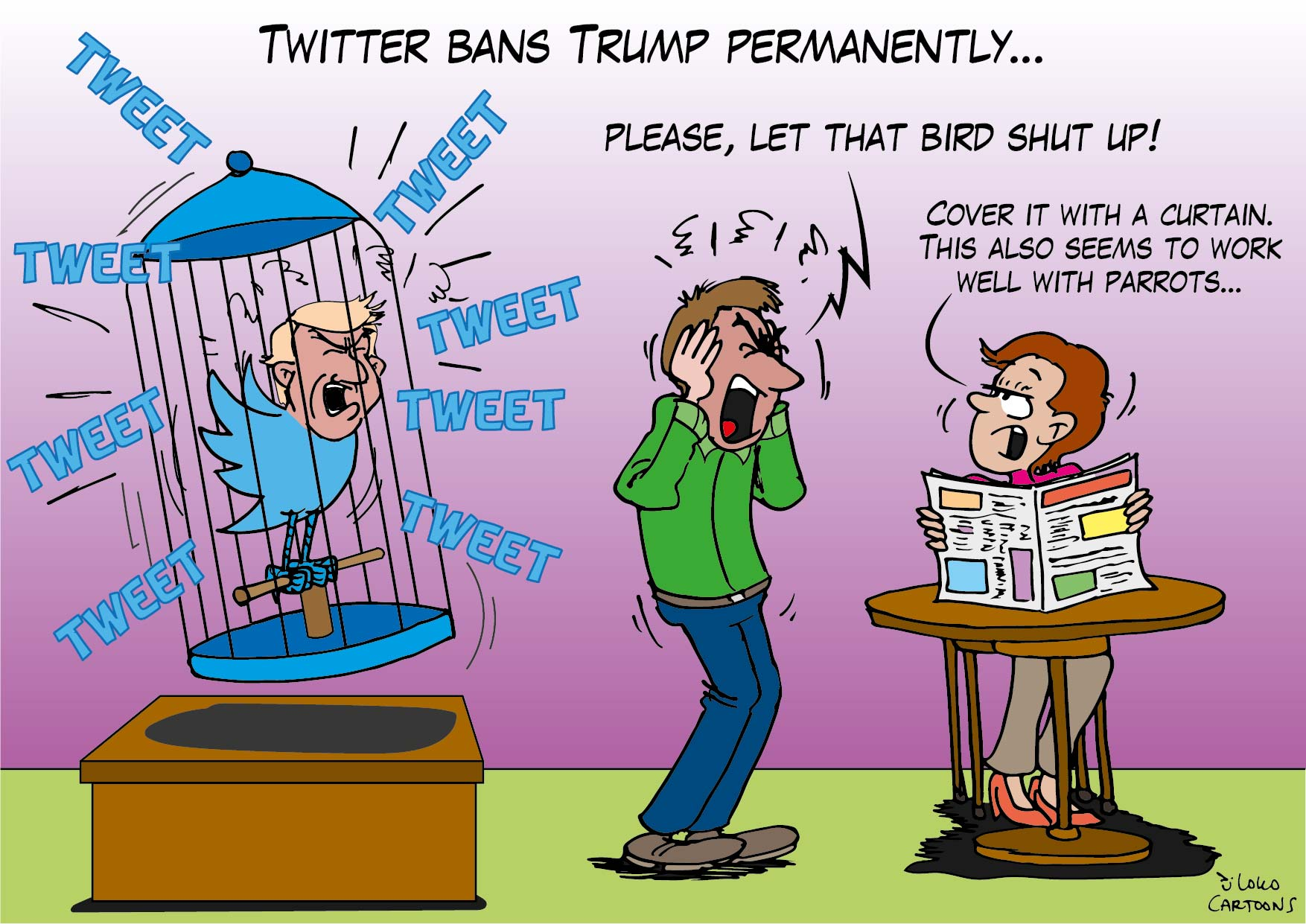 Twitter bans Trump permanently…