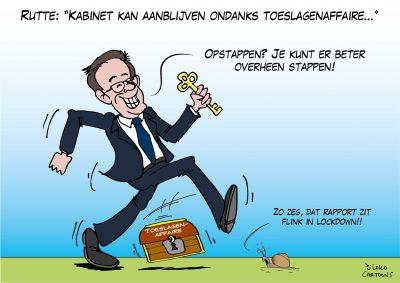"""Rutte: """"Kabinet kan aanblijven ondanks toeslagenaffaire"""""""