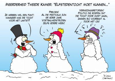 """Meerderheid Tweede Kamer: """"Elfstedentocht moet kunnen"""" sneeuw winter ijs"""