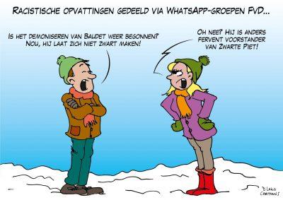 Racistische opvattingen gedeeld via WhatsApp-groep FvD