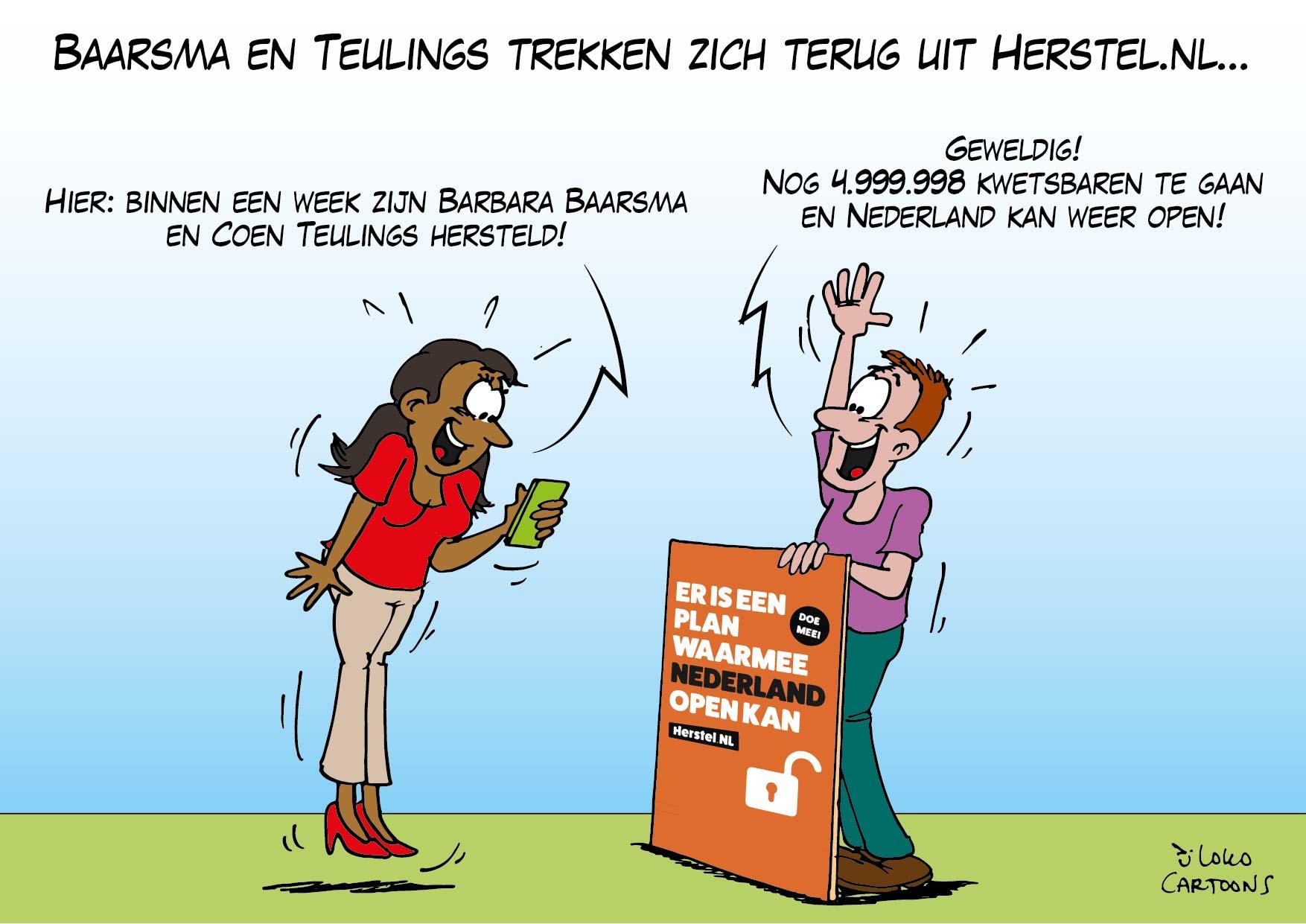Baarsma en teulings trekken zich terug uit Herstel-NL…