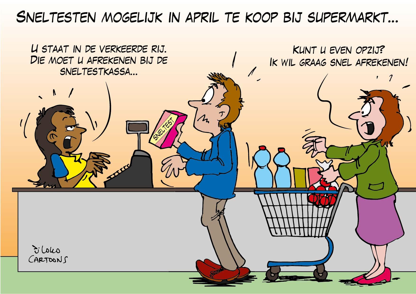 Sneltesten mogelijk in april te koop bij supermarkten