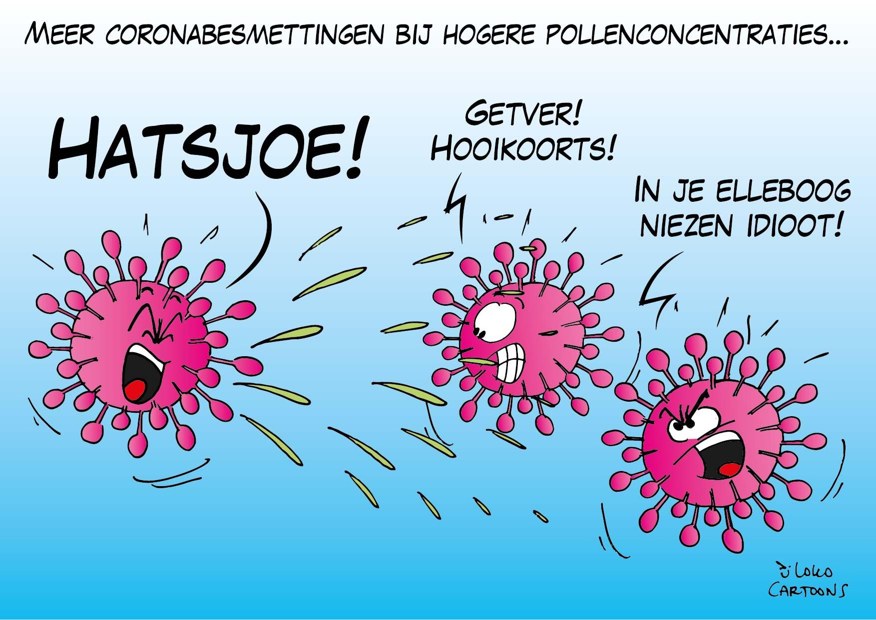 Meer coronabesmettingen bij hogere pollenconcentraties…