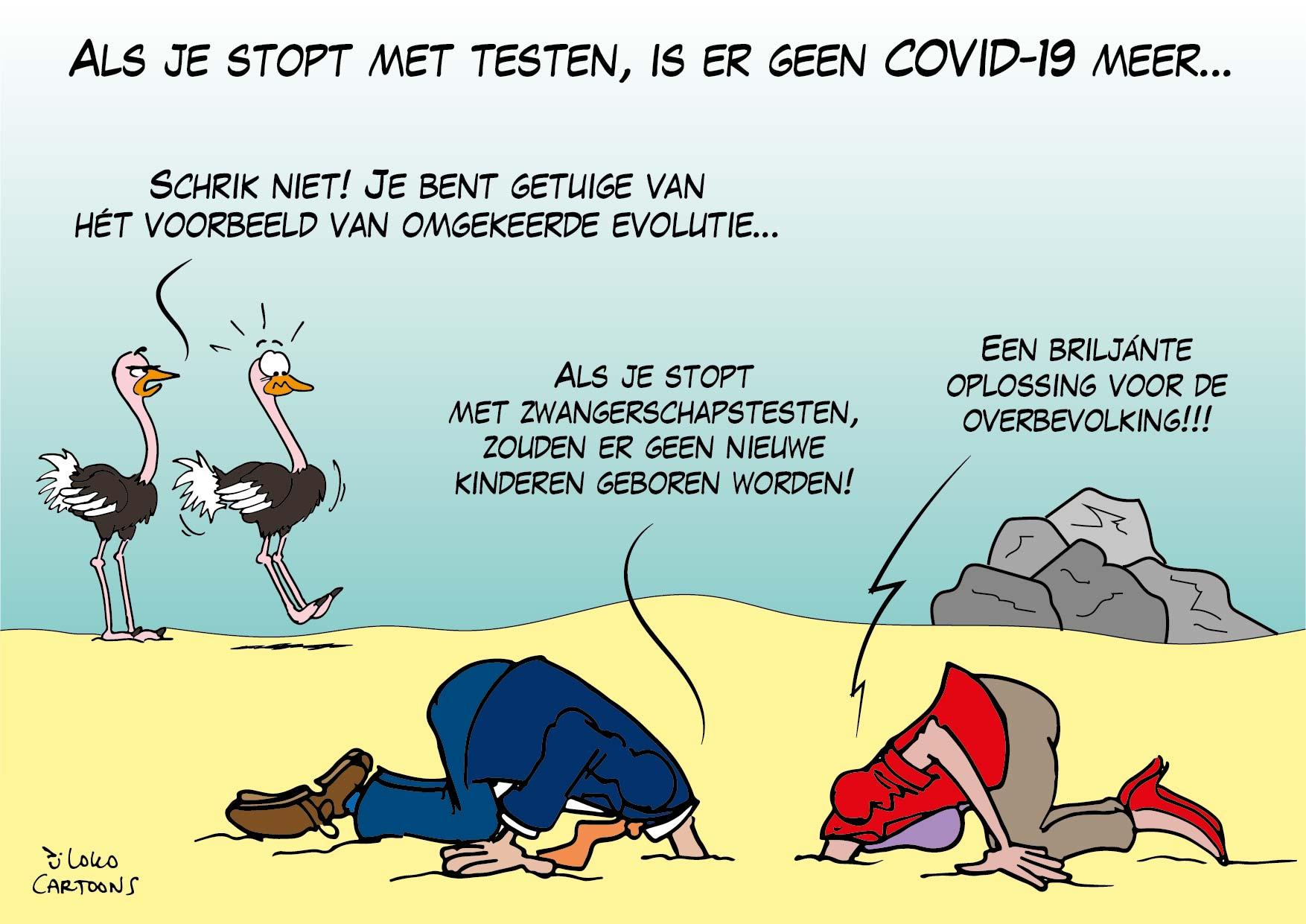 Als je stopt met testen, is er geen COVID-19 meer…