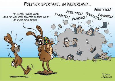 Politiek spektakel in Nederland Omtzigt Pasen Paashaas Functie elders
