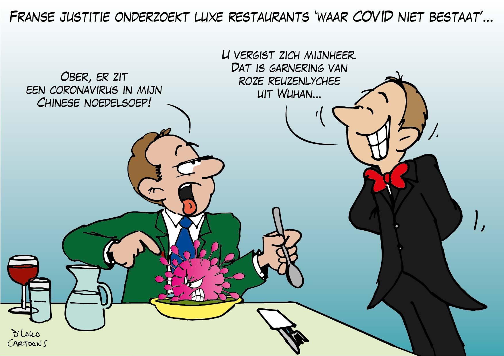 Franse justitie onderzoekt luxe restaurants 'waar COVID niet bestaat'…