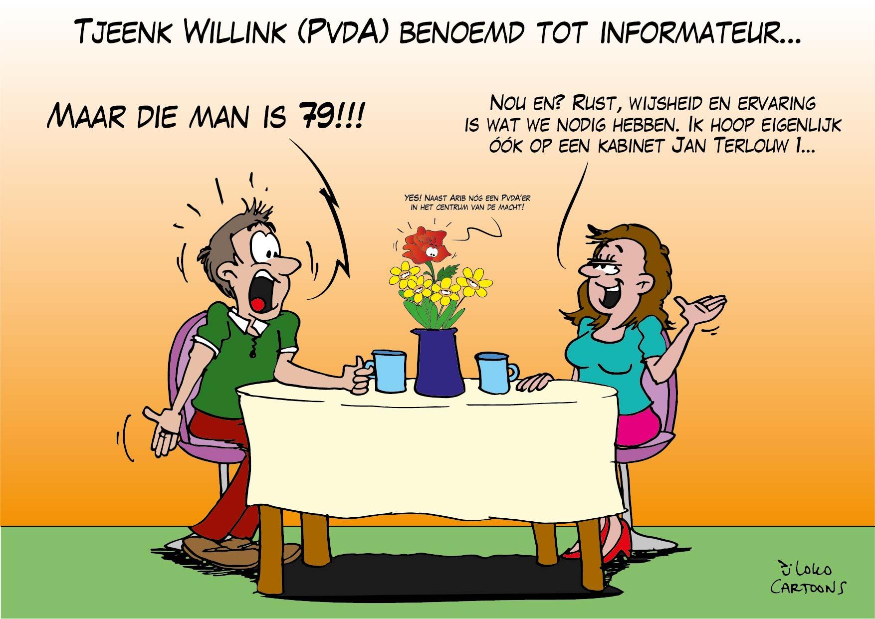 Tjeenk Willink (PvdA) benoemd tot informateur…