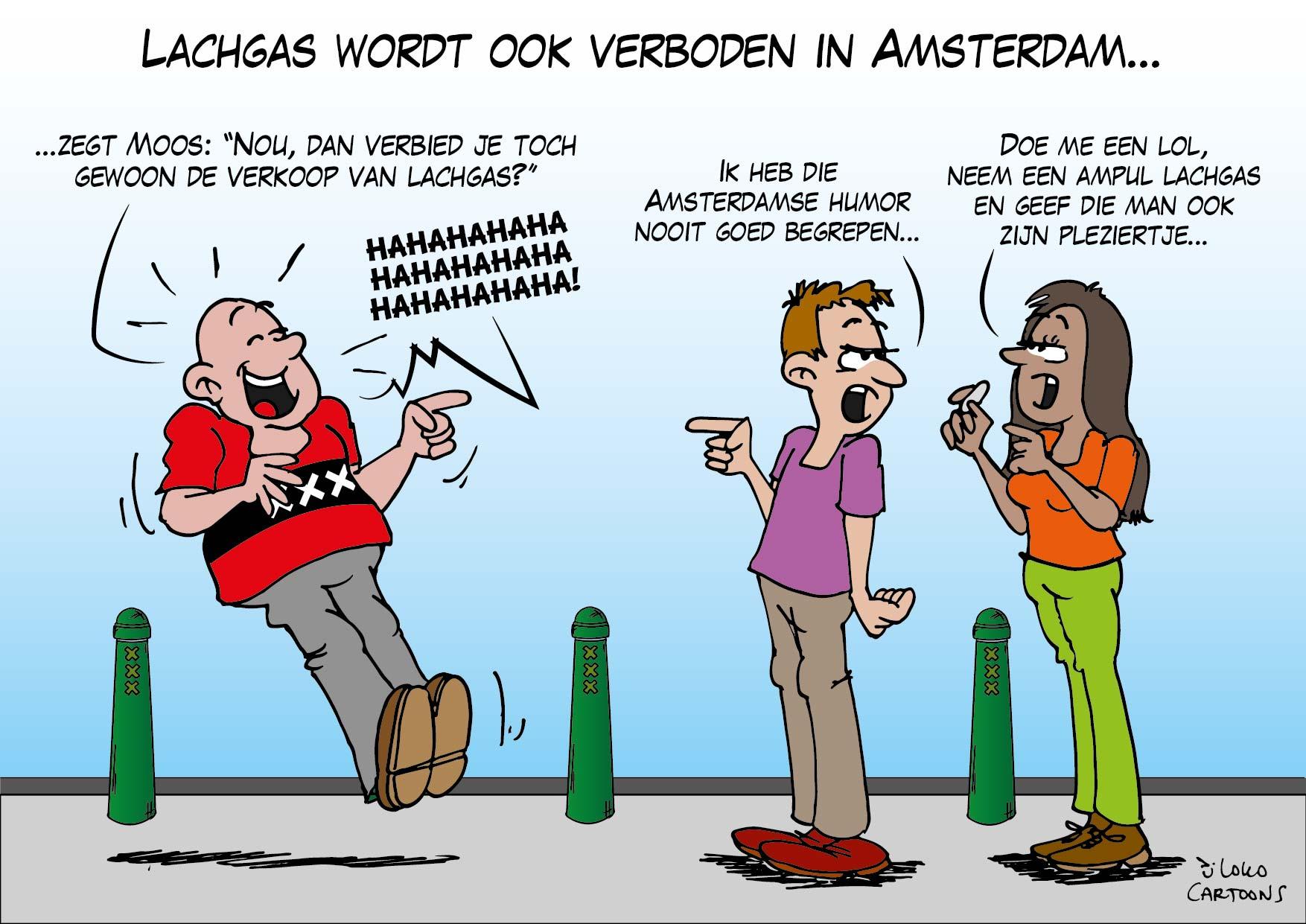 Lachgas wordt ook verboden in Amsterdam…