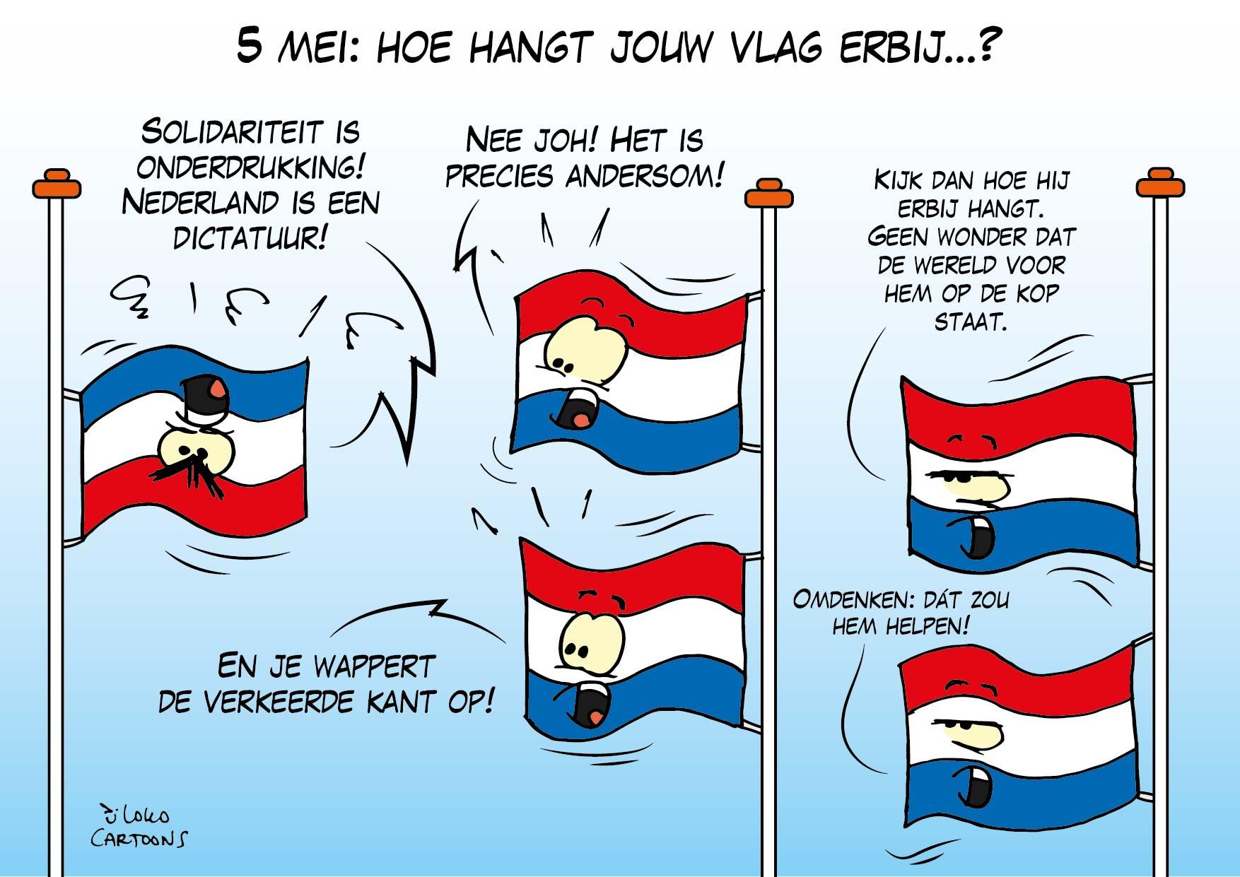 5 Mei: hoe hangt jouw vlag erbij…?