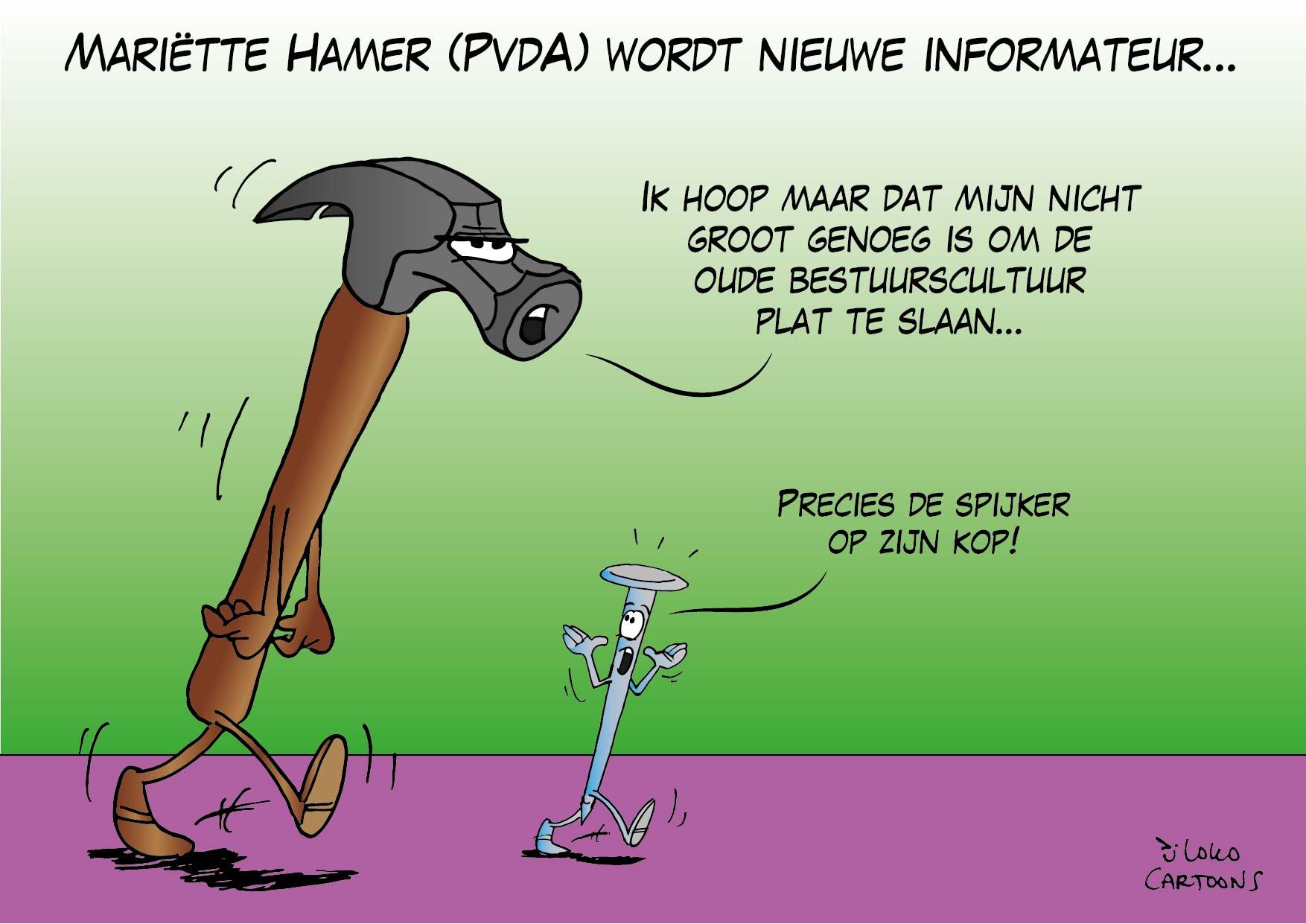 Mariëtte Hamer (PvdA) wordt nieuwe informateur…