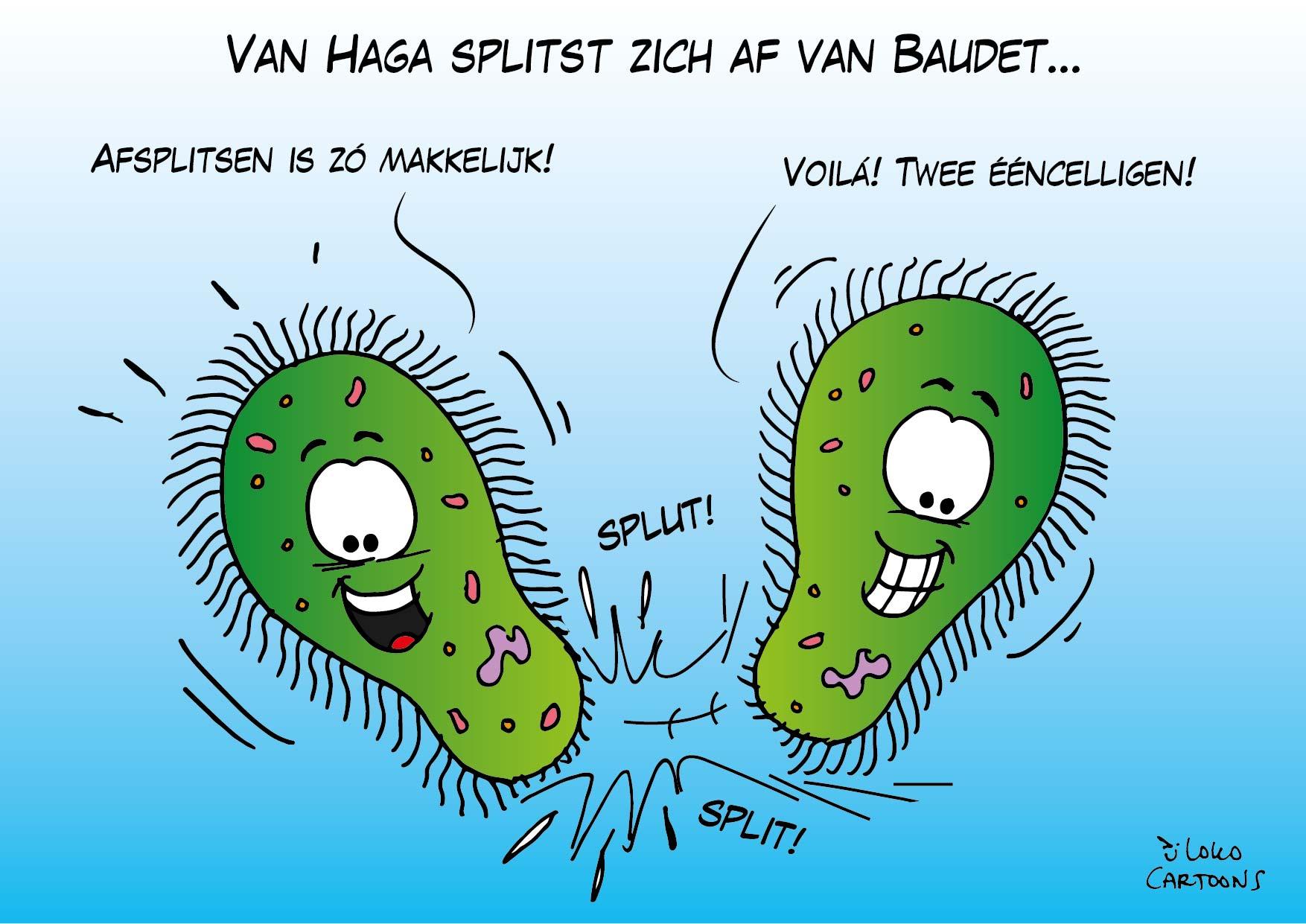 Van Haga splitst zich af van Baudet…