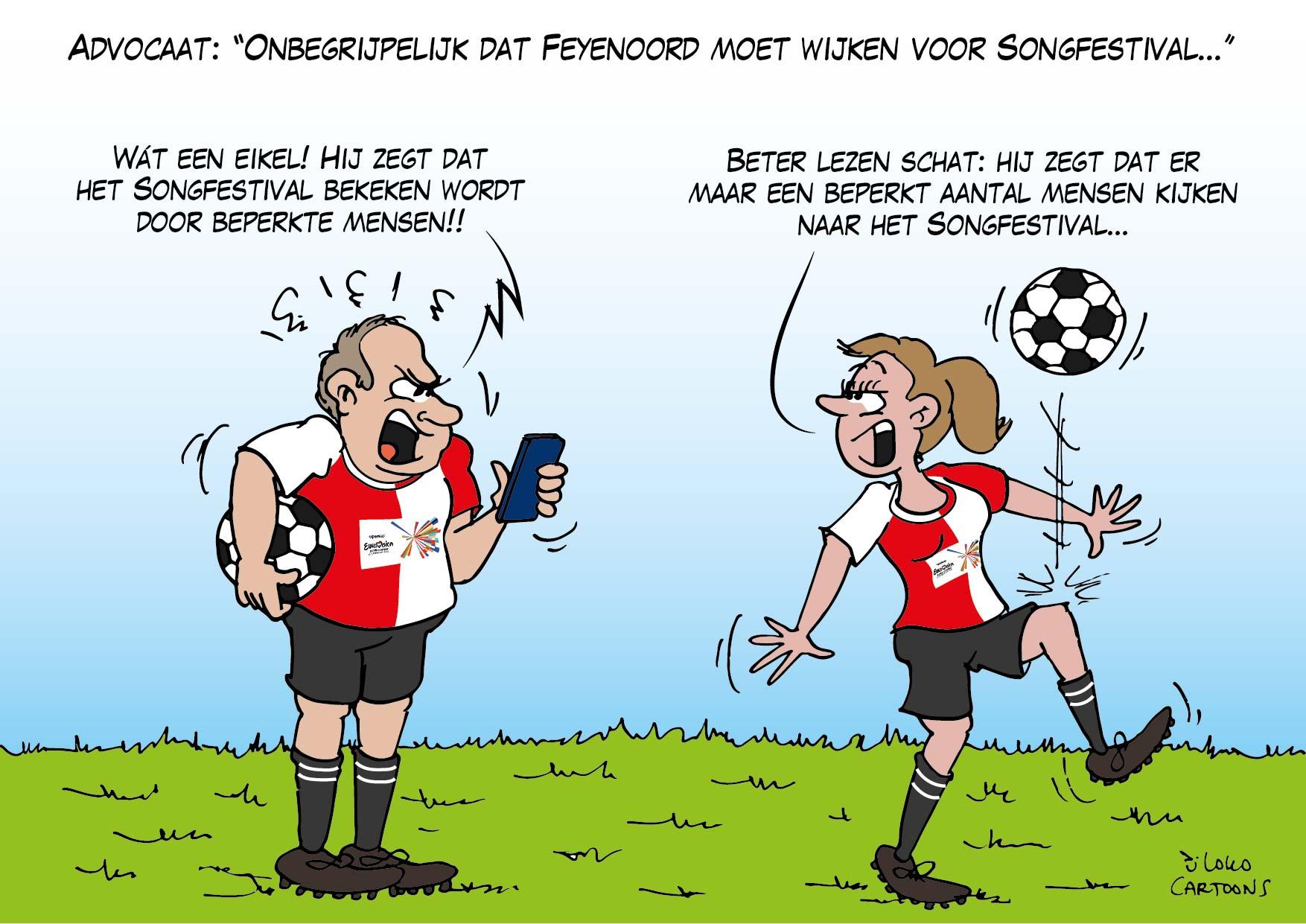 """Advocaat: """"Onbegrijpelijk dat Feyenoord moet wijken voor Songfestival""""…"""