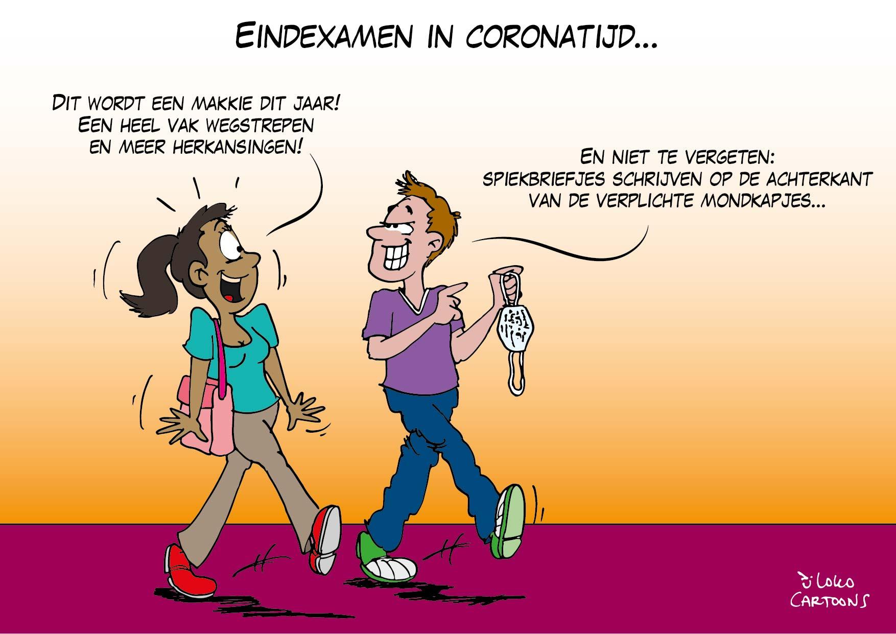 Eindexamen in coronatijd…
