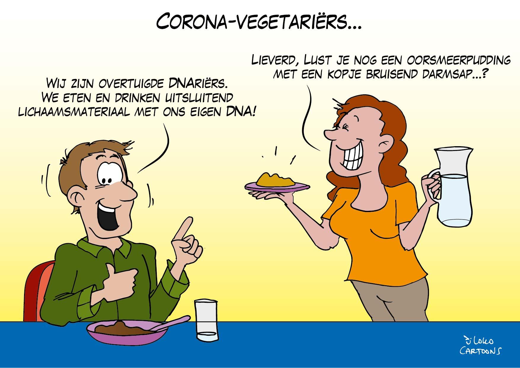 Corona-vegetariërs…