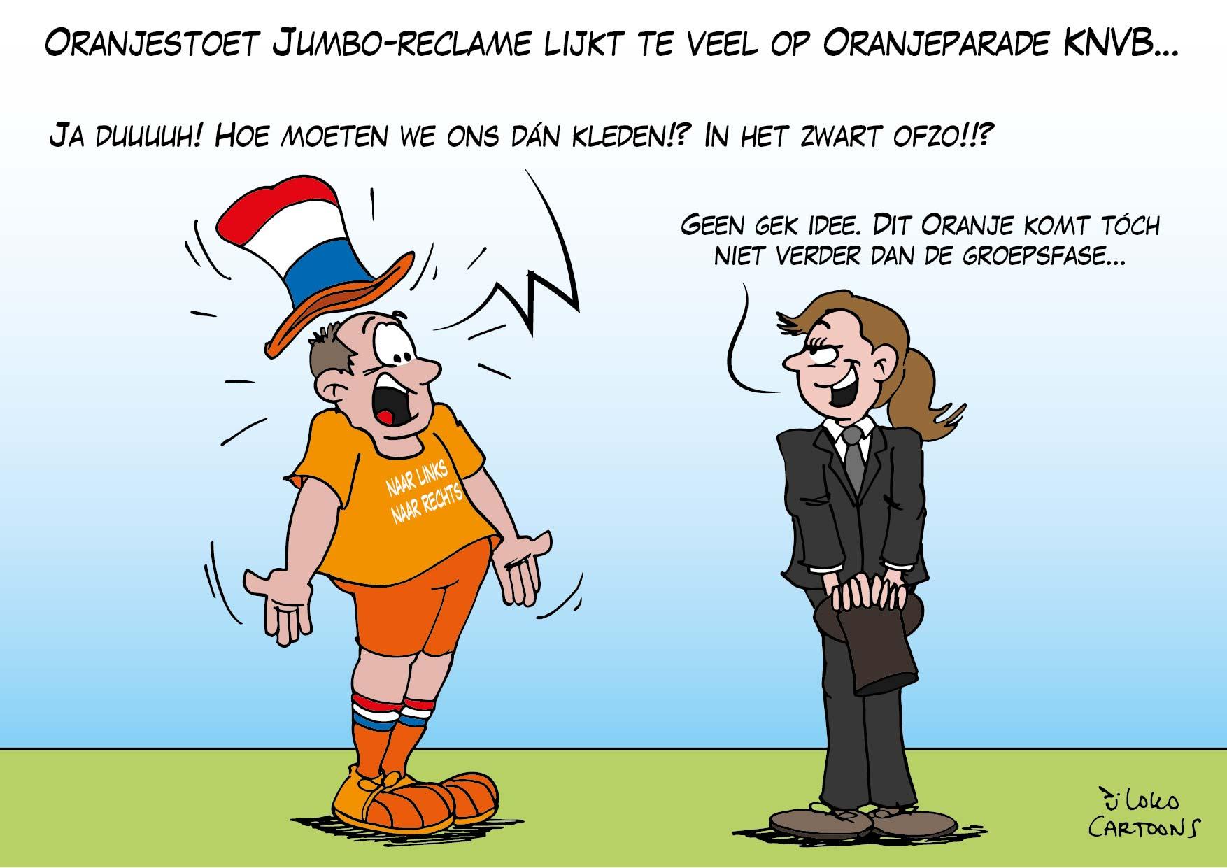 Oranjestoet Jumbo reclame lijkt te veel op Oranjeparade KNVB…