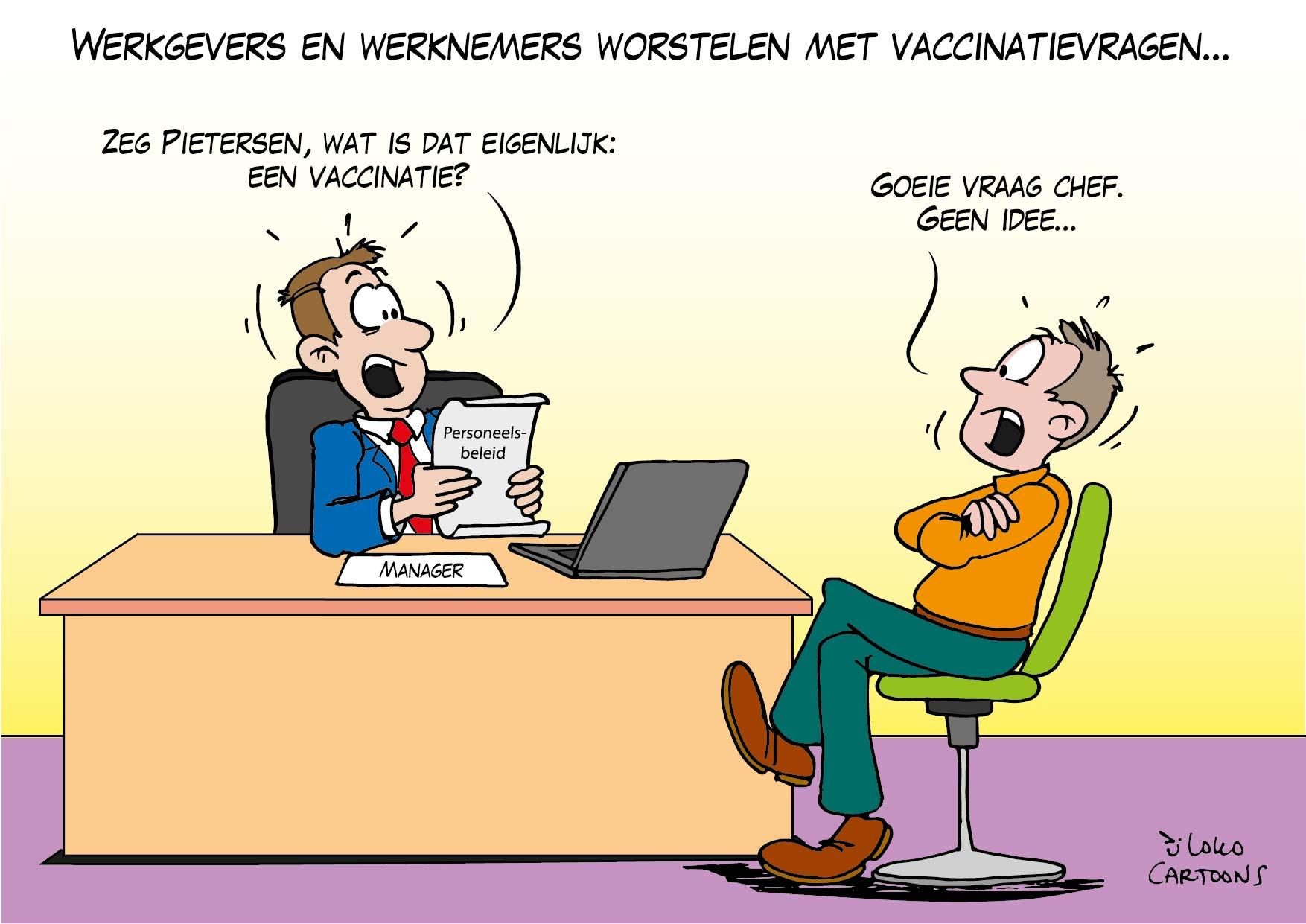 Werkgevers en werknemers worstelen met vaccinatievragen…