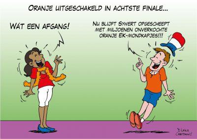 Oranje uitgeschakeld in achtste finale voetbal EK voetbal Euro2020