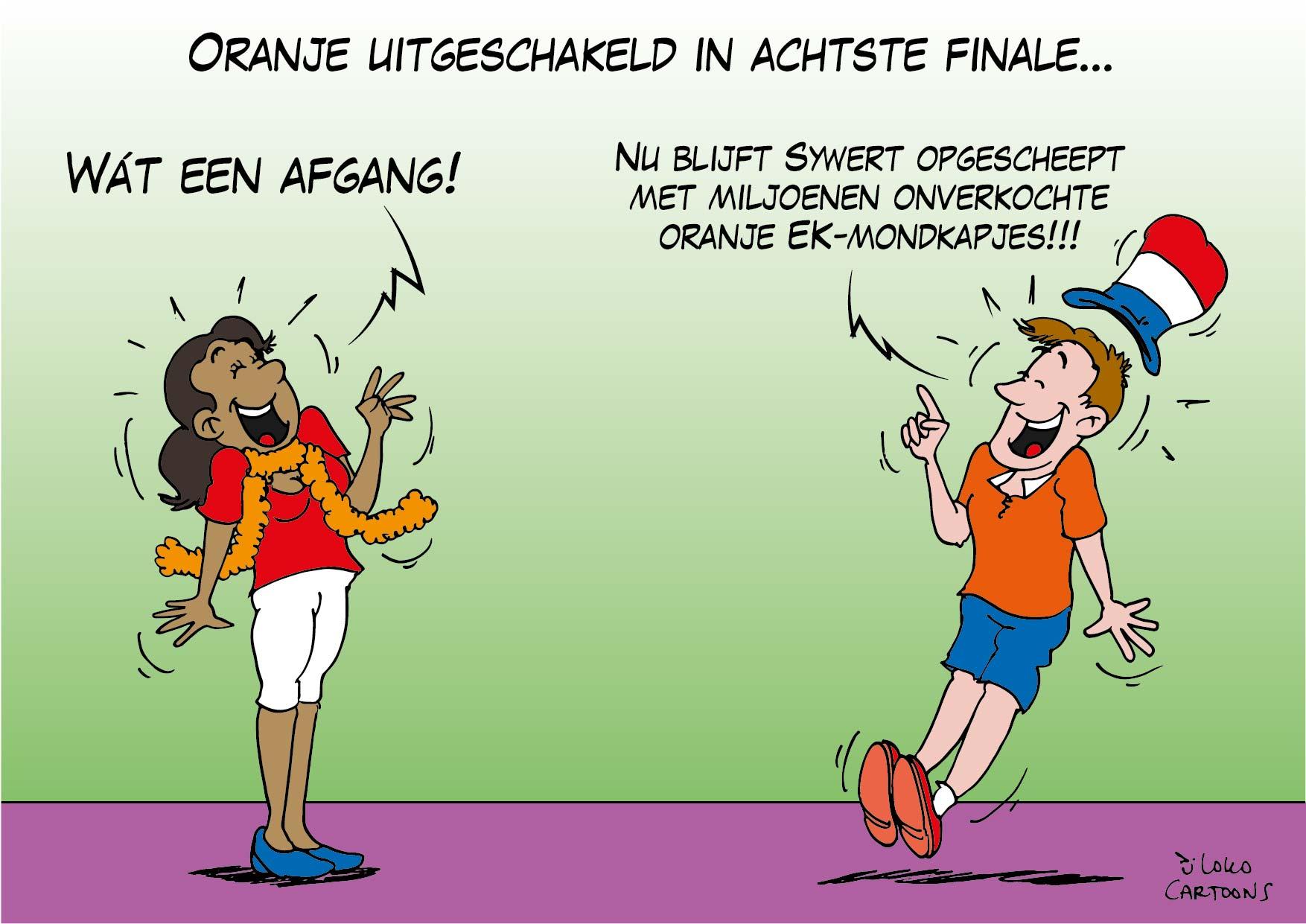 Oranje uitgeschakeld in achtste finale…