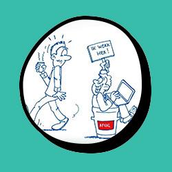 animatie whiteboard Loko Cartoons omgeving Nijmegen Arnhem flexwerken organisatie management