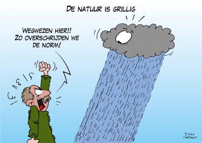 natuurbeheer kwelwater waterschappen landschapsbeheer waterschap live cartooning cartoonverslag Loko Cartoons