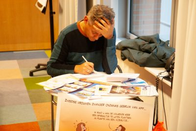 welzijn mantelzorg live cartooning cartoonverslag ministerie Loko Cartoons omgeving Nijmegen Arnhem